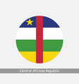 central african republic round circle flag