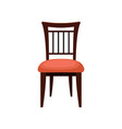 chair comfortable furniture element for home vector image vector image