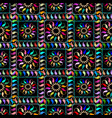 checkered tapestry paisley seamless pattern vector image