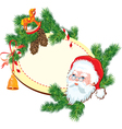 Christmas and New Year background - Santa Claus vector image vector image