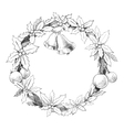 Christmas wreath garland vector image