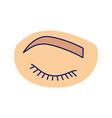closed woman eye color icon vector image vector image