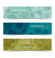 colorful chemistry horizontal banners vector image vector image