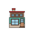 colorful silhouette of facade small house of two vector image