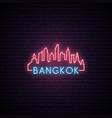 concept neon skyline bangkok city vector image vector image