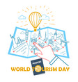 concept world tourism day vector image vector image