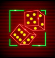 cubes for playing dices vector image vector image