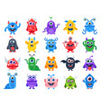 cute cartoon monsters comic halloween joyful vector image