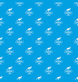 dinosaur lizard pattern seamless blue vector image vector image