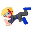 diver boy cartoon vector image vector image