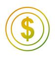 dollar coin money cash icon vector image