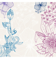 doodle floral card vector image vector image