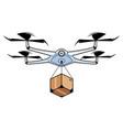 drone delivery symbol vector image