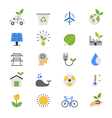 Eco Energy and Environment Flat Color Icons vector image vector image