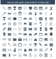 event icons vector image vector image