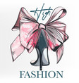 fashion with female elegant shoe vector image vector image