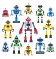flat bots and robots robotic bot mascot humanoid vector image vector image