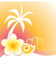 flower and palm vector image vector image