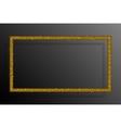 Frame Gold Sequins Rectangle Glitter Sparkle vector image