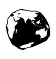 geoid shape indian ocean vector image vector image