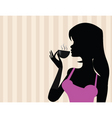 girl with coffee vector image vector image