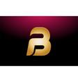 gold golden metal alphabet letter b logo company