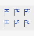 israel flag symbols set national flag icons vector image vector image