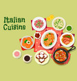 italian cuisine lunch menu icon for food design vector image vector image