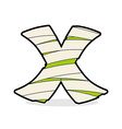 Letter X Monster zombie Alphabetical icon medical vector image vector image