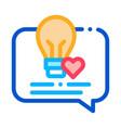 lightbulb frame icon outline vector image