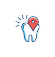 location icon dental care stomatology location vector image vector image