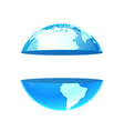 logo earth planet with copy space vector image vector image