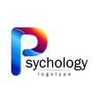 Modern logo of Psychology Creative style vector image