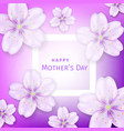 mothers day greeting card with cherry blossom vector image vector image