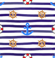 Nautical and Anchor Seamless Pattern vector image vector image