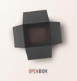 open black textured gift box on light background vector image