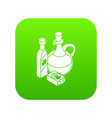organic eco food icon green vector image vector image