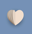 papercraft heart vector image