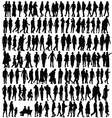 people silhouette black vector image