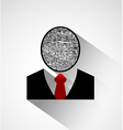 Person silhouette finger print head vector image vector image