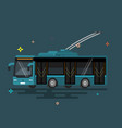 public transport trolleybus vector image vector image
