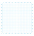 Real size millimeter engineering paper vector image vector image