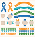 ribbon and badges set 2 vector image vector image
