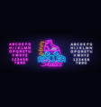 roller skates neon sign retro quad roller vector image vector image