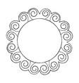 round doodle line art frame set vector image vector image