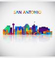 san antonio skyline silhouette vector image vector image