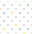 seamless pattern with colorful pastel polka dots vector image vector image