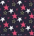Seamless star pattern hand drawn sketch stars