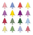 Set of colorful pine trees vector image