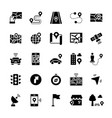 simple icon set navigation items in flat style vector image vector image